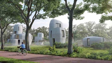 3D-geprinte betonnen woning in Eindhoven