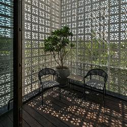 Glasvezelversterkte betonnen gevelschermen