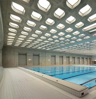 Gerecyclede grondstoffen voor Aquatics Centre, Londen