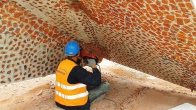 Bewerkt betonoppervlak