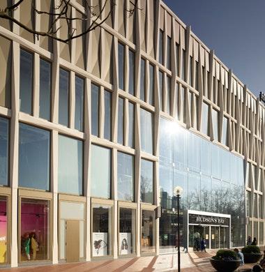 Gewoven prefab betonnen gevel voor bestaand warenhuis