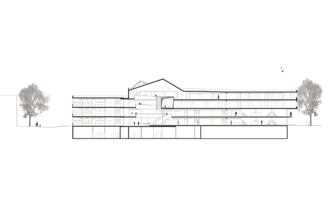 2 Longitudinal section Behnisch Architekten