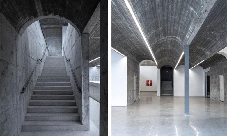 schoonbeton Museum Taizhou trap en zaal Foto Tian Fangfang