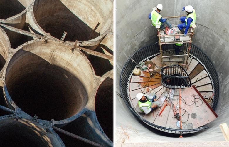 Trap in silo
