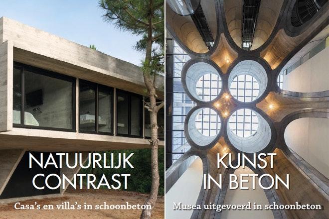 Omslagen Natuurlijk Constrast en Kunst in beton