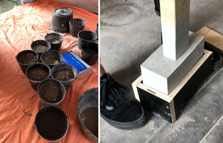 12 rammed concrete making