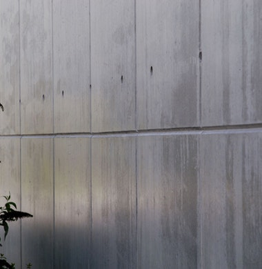 Sfeerbeeld: sober, glad beton